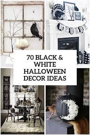 70 ideas for elegant black and white halloween decor halloween