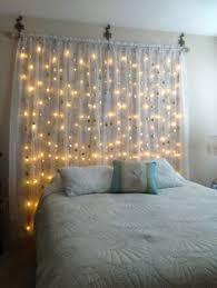 diy headboard with led lights headboard back lit with white icicle lights i think it string