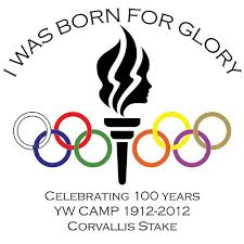 olympic rings women images Logo graphic for young women 39 s camp 2012 quot born for glory quot flickr jpg