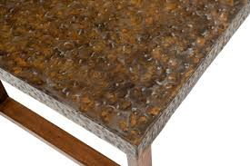 Hammered Metal Coffee Table Industrial Coffee Table Metal Coffee Table Unique Coffee Table