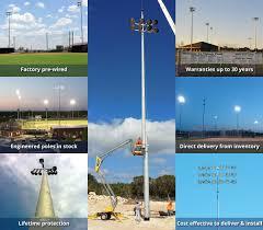 sports lighting poles techline sports lighting