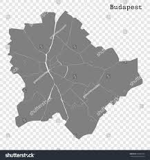 Map Of Budapest High Quality Map Budapest City Hungary Stock Vector 659834704