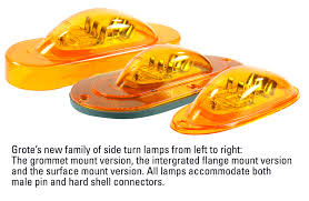 grote led trailer lights grote introduces new family of led side turn ls