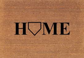 Home Plate Baseball by Baseball Home Plate Door Mat Coir Doormat Rug Large 23 75