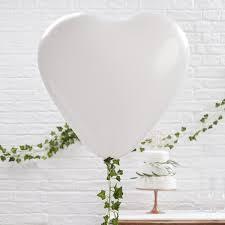 large white balloons balloons large white heart shaped wedding wedding decoration