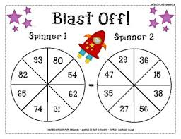 subtraction spinners differentiated activity 1 spinner with
