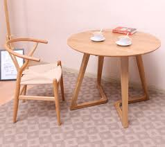 small round coffee table all solid wood side table round coffee table creative balcony pure