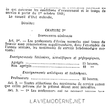 Décrets De 1950 Retour Vers Le Passé Décrets De 1950 Retour Vers Le Passé