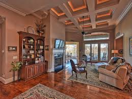 traditional living room with carpet u0026 box ceiling in mooresville
