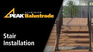 peak aluminium balustrade stair installation youtube