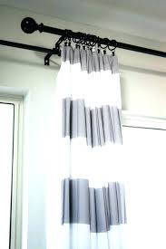 Blue Ticking Curtains And White Ticking Stripe Shower Curtain Cottage Bathroom