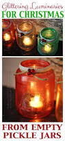 Decorated Jars For Christmas Glitter Christmas Luminaries Crafts By Amanda