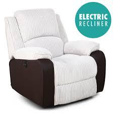 Fabric Sofa Recliners by Postana Jumbo Cord Fabric Power Recliner Armchair Electric Sofa