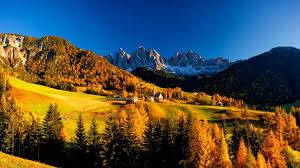 Italy Houses Mountain Mountain Village Autumn Hills Peaceful Rocks Vilalge Sky