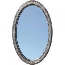 Beveled Mirror Corinthian Decorative Beveled Oval Mirror Venetian Bronze Bathroom