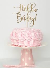hello baby shower baby shower cake topper gold gold baby shower cake top