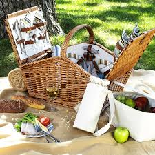 picnic basket set for 4 huntsman picnic basket for 4 w coffee set picnic blanket santa