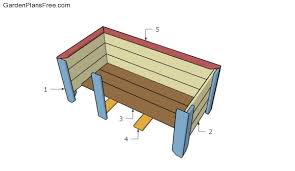 large planter box plans free garden plans how to build garden