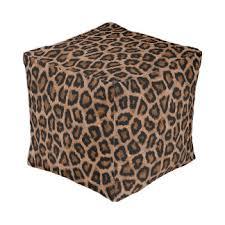 animal print poufs pillows u0026 ottomans zazzle