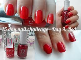 flutter and sparkle makeup savvy 15 day nail challenge day 9 red