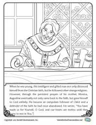 saint coloring page herald store free st augustine coloring pages