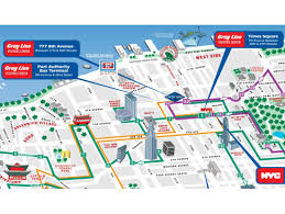 map of new york city with tourist attractions map of new york city landmarks major tourist