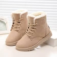 womens boots black sale sale boots warm winter boots shoes lace up fur
