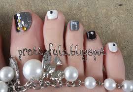 nail art pedicurel art blackandwhitepedi2 ideas springeasy