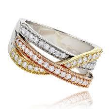 jewelry rings ladies images Hand rings ladies diamond ring 0 6ct 14k white yellow rose gold jpg