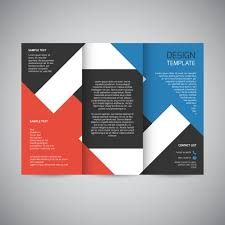 tri fold brochure design templates trifold brochure design vector