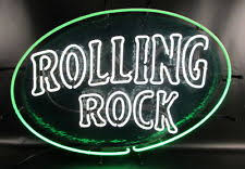 cheap light up beer signs collectible rolling rock signs tins ebay