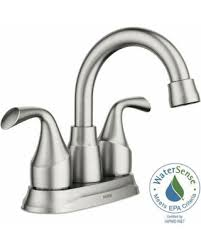 Moen Brushed Nickel Faucets Great Deals On Moen Idora 4 In Centerset 2 Handle Bathroom Faucet