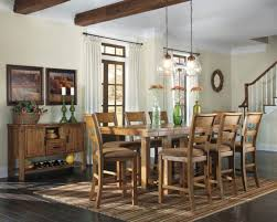 counter dining room sets ashley furniture krinden rectangular 9 piece counter dining room
