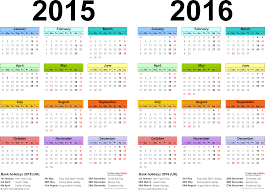 two year calendars for 2015 u0026 2016 uk for word