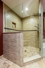 Bathroom Walk In Shower Designs Doorless Walk In Shower Designs Classic Tile Half Wall Bench