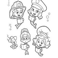 free bubble guppies coloring pages bubble guppies coloring pages 10 craft ideas pinterest