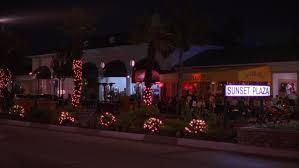 Outdoor Christmas Decorations Los Angeles by Night Across Sunset Blvd Los Angeles Street Restaurants Stores