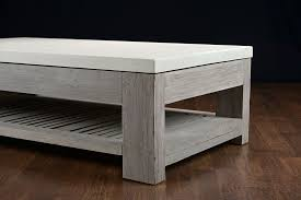Concrete Coffee Table Slatted Teak And Concrete Outdoor Coffee Table Mecox Gardens