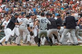 Red Sox Yankees Benches Clear Sport Benches Clear 3 Times 8 Ejections For Tigers Yankees