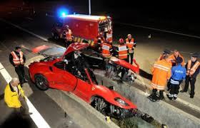 horrific crash in belgium killed two and split this ferrari f430