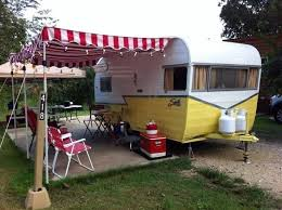 Camping Trailer Awnings 79 Best Retro Trailers Images On Pinterest Vintage Campers
