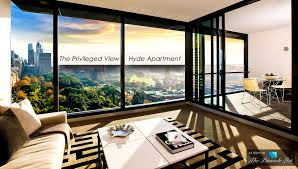 the privileged view of the luxury hyde apartment building in