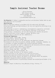 Resume Examples Teacher by Assistant Teacher Resume Resume For Your Job Application