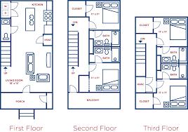 Town House Floor Plans 721 4 Bedroom Townhouse Unit B Collegeplacefsu Com