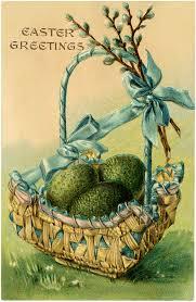 vintage easter baskets pretty vintage easter egg basket image the graphics fairy
