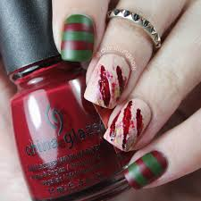 freddy krueger special effects nail art halloween nail art by