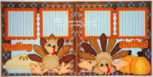 blj studio feeling stuffed thanksgiving scrapbook pages