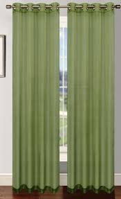 Green Sheer Curtains Platinum Sheer Voile Curtain With Grommets Green Home