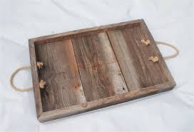 Wooden Trays For Ottomans Barn Board Tray Barn Wood Tray Rustic Wooden Tray Coffee