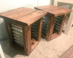 rustic wood side table rustic side table etsy